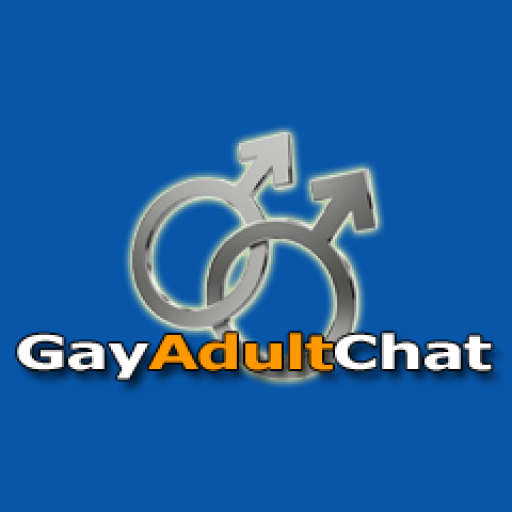 Gay Adult Chat logo - two male signs with Gay Adult Chat written across the bottom