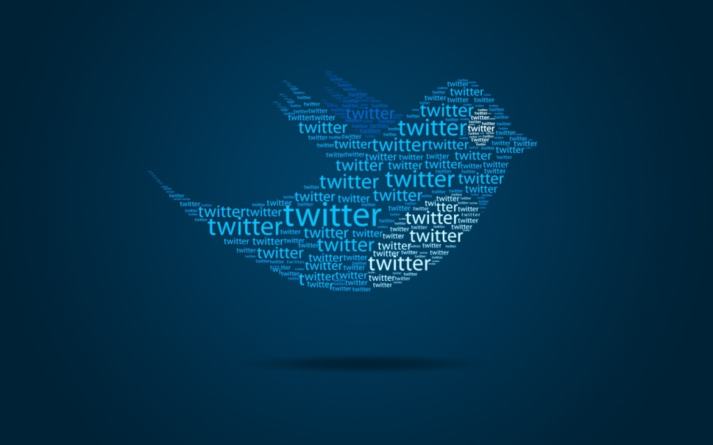 """Twitter bird logo made up of lots of the word """"twitter"""""""